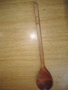 Wooden spoon measure